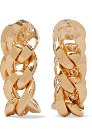 Bottega Veneta | Gold-plated hoop earrings | NET-A-PORTER.COM