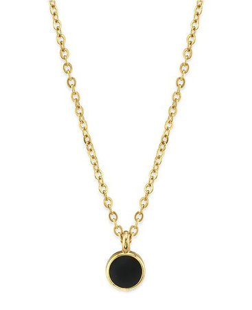 "2028 14K Gold Dipped Small Round Enamel Necklace 16"" & Reviews - Fashion Jewelry - Jewelry & Watches - Macy's"
