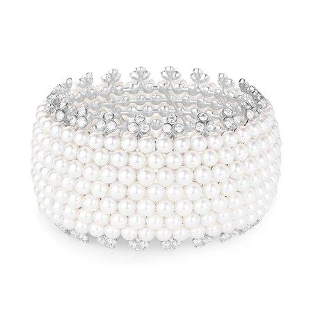 Boucheron, NUIT ETOILÉE Bracelet set with Akoya cultured pearls