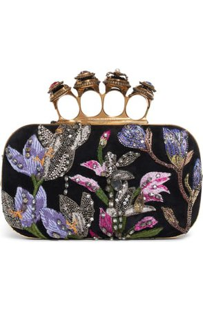 Alexander McQueen Embroidered Knuckle Box Clutch | Nordstrom