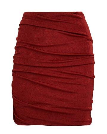 ALIX NYC Cyrus Ruched Mini Skirt | INTERMIX®