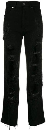 Almaz ripped detail jeans