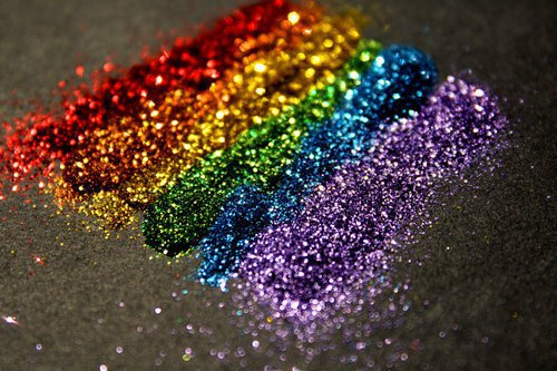 Glitter in Rainbow Colors Background