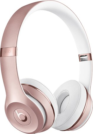 Beats by Dr. Dre Beats Solo3 Wireless Headphones Pink MNET2LL/A - Best Buy