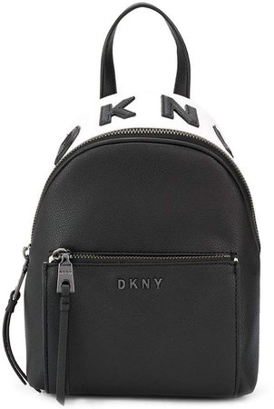 Applique Logo Zipped Backpack