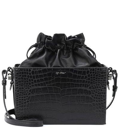 Embossed leather shoulder bag