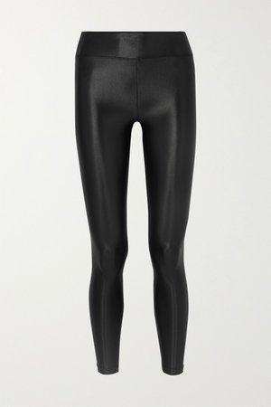 Black Lustrous stretch leggings   Koral   NET-A-PORTER