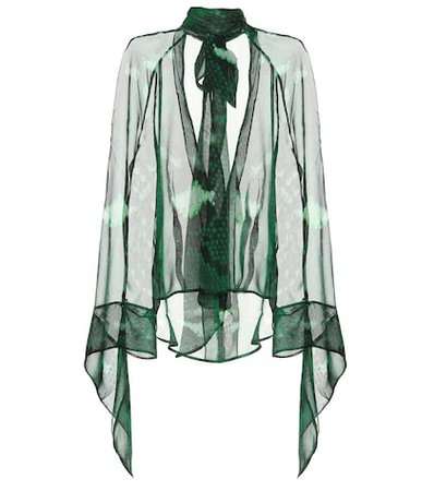 Barry snake-printed silk blouse