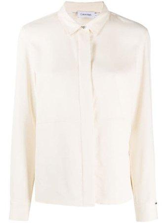 Calvin Klein Concealed Front Shirt - Farfetch