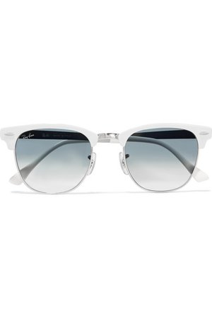 Ray-Ban Clubmaster acetate and silver-tone sunglasses, $180