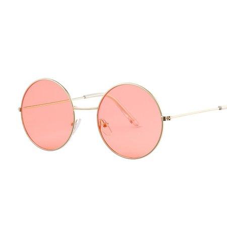 Vintage Round Sunglasses peach