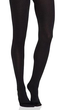Plush Full Foot Fleece Lined Tights in Black | REVOLVE