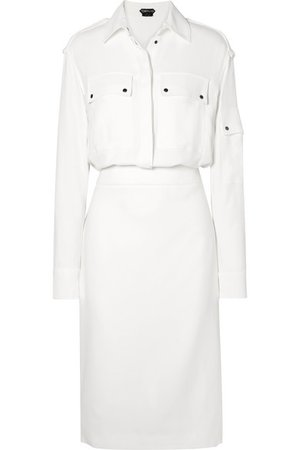 TOM FORD | Stretch-crepe midi dress | NET-A-PORTER.COM