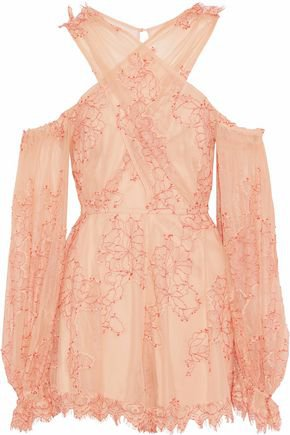 Open-back sequined silk playsuit | VALENTINO | Sale up to 70% off | THE OUTNET
