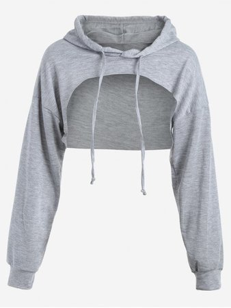 Cut out cropped hoodie