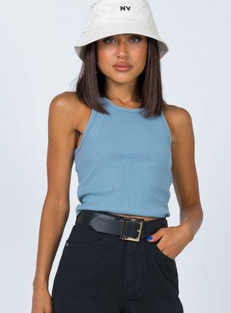 Selena Tank Top Blue