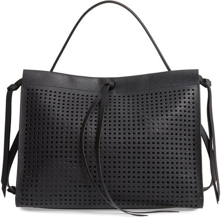 Katlin Small Perforated Leather Tote