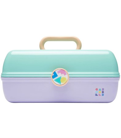 Seafoam + Lilac Two Tone Retro On-The-Go Girl™ Caboodle – Always Fits