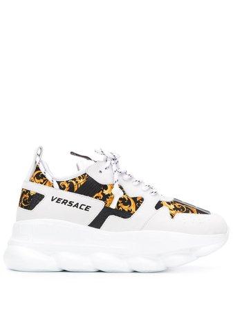 Versace Barockmönstrade Sneakers - Farfetch