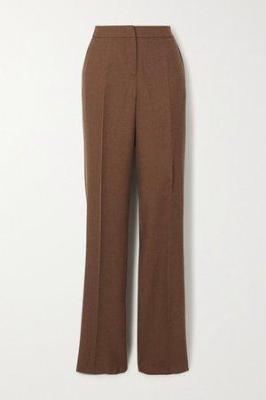 Brown Bea camel hair and silk-blend straight-leg pants | Max Mara | NET-A-PORTER