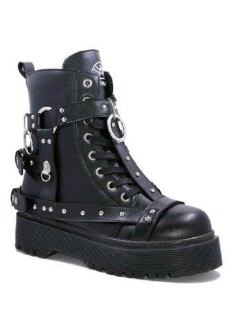 YRU Strange Cvlt DISORDER BONDAGE - Black Gothic Punk Boot - Mint Condition | eBay