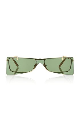 Gold-Tone Metal Cat-Eye Sunglasses by Gucci | Moda Operandi