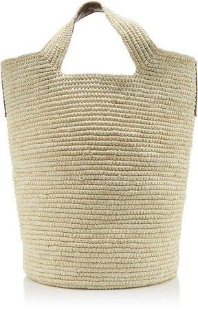 Studio Tall Straw Tote Bag