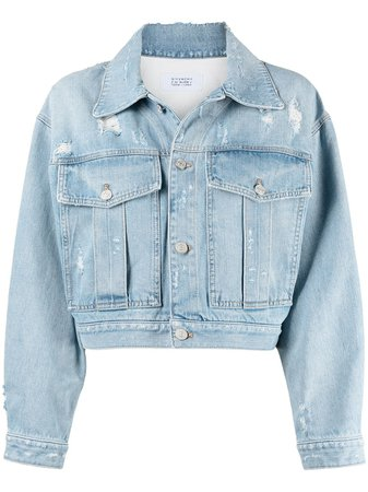 Givenchy Cropped Distressed Denim Jacket - Farfetch