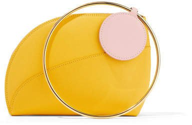 Eartha Small Two-tone Textured-leather Clutch - Yellow