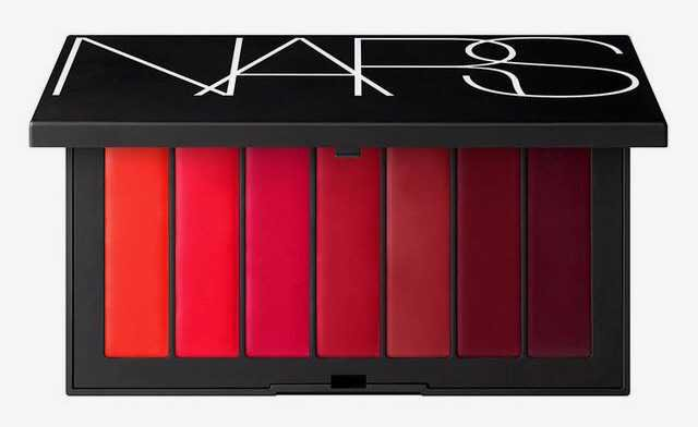 nars audacious lipstick palette forget me not lip red dark burgundy bright cherry makeup