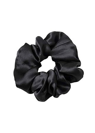 LilySilk Pure Silk Charmeuse Scrunchy -Regular -Scrunchies For Hair - Silk Scrunchies For Women Soft Hair Care Black : Beauty