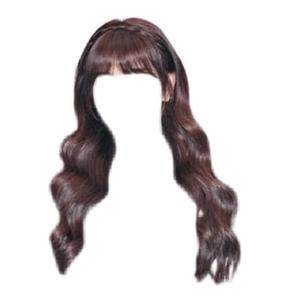 brown hair bangs png