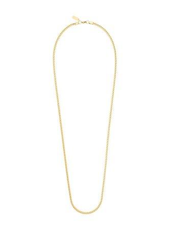 Gold Nialaya Jewelry square chain necklace - Farfetch
