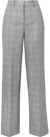 Tabitha Simmons Hyperion Prince Of Wales Checked Voile Wide-leg Pants - Gray