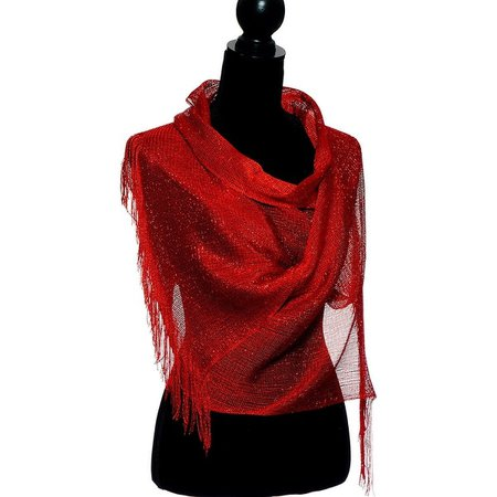 Shop Womens Wedding Wrap Shawl Glitter Metallic Party Scarf with Fringe - On Sale - Free Shipping On Orders Over $45 - Overstock - 20585791