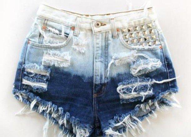 Ombre short shorts