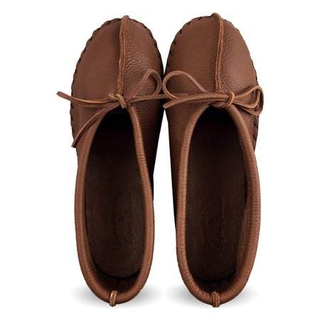 Women's Earthing Genuine Elk Hide Leather Ballerina Style Moccasins | The Earthing Store