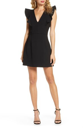 French Connection Whisper Ruffle Minidress   Nordstrom