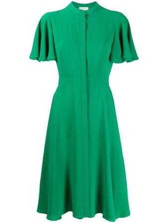 Alexander McQueen Asymmetric Midi Dress - Farfetch