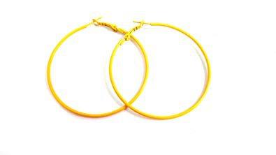 Amazon Etsy Bright Yellow Hoop Earrings