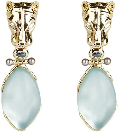 Future Antiquity Panther Clip-On Drop Earrings