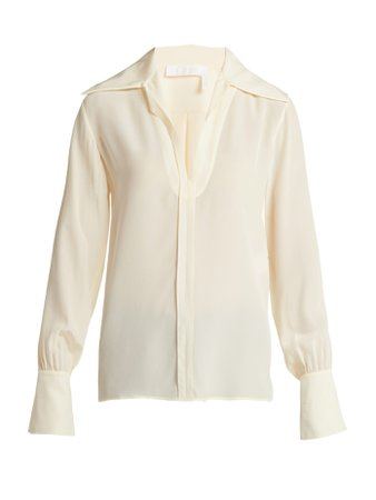 Wide-collar silk blouse | Chloé | MATCHESFASHION.COM FR