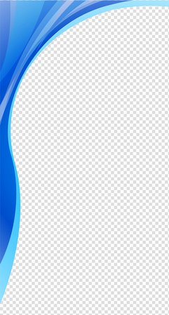 Blue and teal border frame, Gradient wavy lines transparent background PNG clipart | PNGGuru