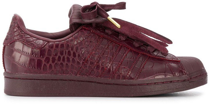 Superstar fringed leather sneakers