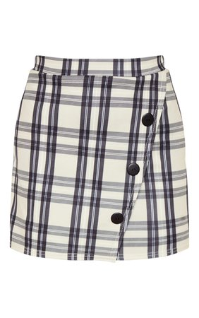 Stone Checked Button Skirt | Skirts | PrettyLittleThing