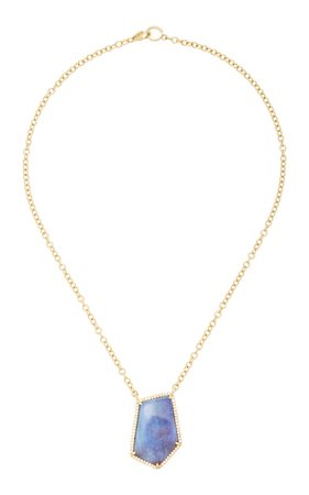 14K Gold, Opal And Diamond Necklace by Sheryl Lowe | Moda Operandi