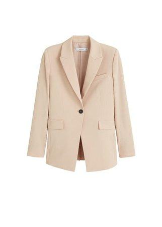 MANGO Structured suit blazer