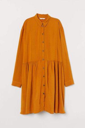 Airy Shirt Dress - Yellow