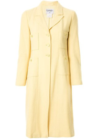 Chanel Pre-Owned Slim-Fit Midi Coat Vintage | Farfetch.com