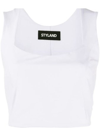 Styland Fitted Cropped Top - Farfetch